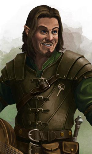 Half-elf Bard Stock Art - Mindplaces | DriveThruRPG com